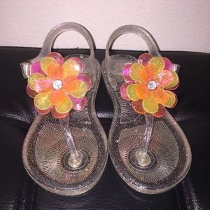 Girl's Carter's Flower Sandals (size 9) 🌸 EUC